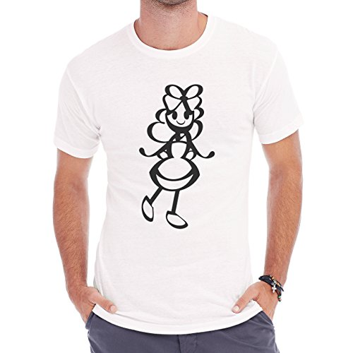Alice In Wonderland Black And White Herren T-Shirt Weiß