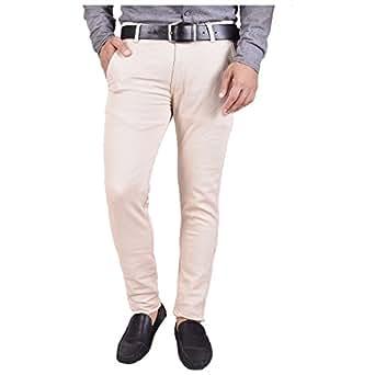 Nation Polo Club Men's Slim Fit Cotton Lycra Blend Beige Color Casual Trouser(NPCDANA5106_28)