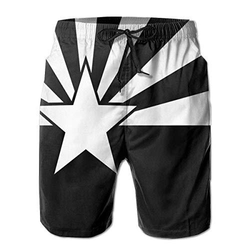 Jieaiuoo Men Board Shorts Swimtrunks Arizona Flag Quick Dry Beach with Pockets XXL Arizona Boys Jean