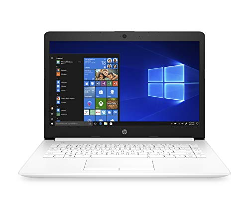 HP Stream 14-cm0004ns - Ordenador portátil 14' HD (AMD A4-9125, 4GB RAM, 64GB de almacenamiento, AMD Radeon R3, Windows 10 Home) color blanco - teclado QWERTY Español
