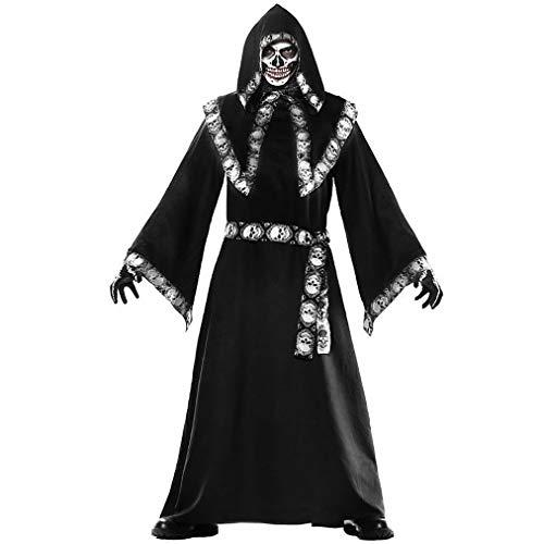 Halloween Kostüm Elfen Dunkle - MCKEYEN Halloween Kostüm Halloween Mantel gruselig Zauberer Kostüm Mann Mönch Roben