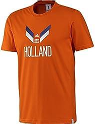 Adidas Holland T-Shirt Retro T-Shirt (ORANGE)