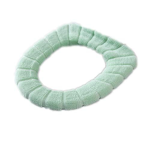 Universal Soft Beheizte Waschbare Toilettensitzmatte Set Closestool Matte Sitzbezug Toilettendeckel Deckel Zubehör, grün
