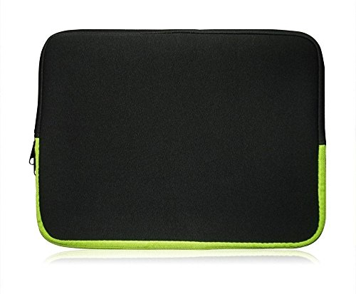 Sweet Tech Schwarz/Grün Neopren Hülle Tasche Sleeve Case Cover geeignet für Blaupunkt Endeavour 1100 11.6 Zoll Tablet PC (11.6-12.5 Zoll Tablet)