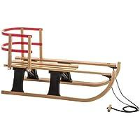 Hamax Schlitten Lillehammer Rodel Mini with Back support, Wood/black/maple/beech, 540026