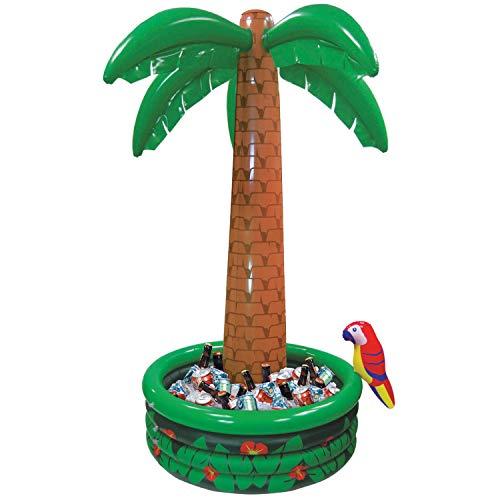 Günstige Motto Familien Kostüm - Amscan 374583 Aufblasbare Jumbo-Getränkekühler Palme, Vinyl, Mehrfarbig