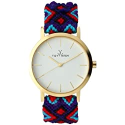 Toywatch Maya Women's Quartz Watch with White Dial Analogue Display and Blue Strap MYW07GD - 0.94.0061