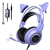 Somic G951S Lila Gaming-Headset mit Mikrofon für PS4, Xbox One, PC, Handy, Surround-Sound,...