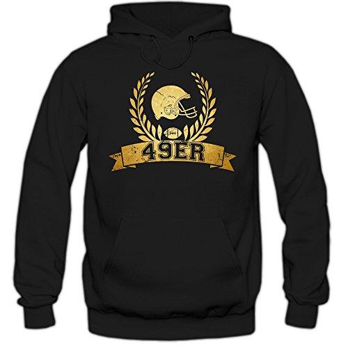 49er #6 Hoodie Herren Super Bowl Play Offs Football Hoodies USA Kapuzenpullover, Farbe:Schwarz (Black F421);Größe:XL