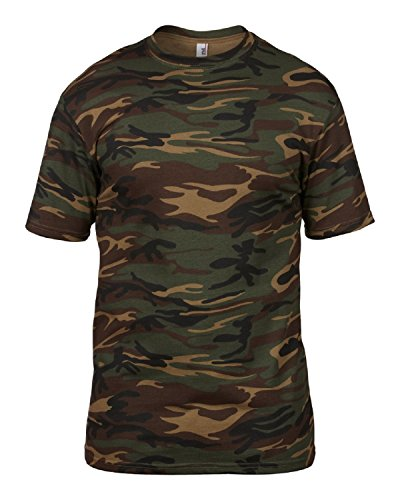 Anvil Herren T-Shirt Grün/Camouflage