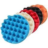 """Almohadilla de esponja - SODIAL(R)5Pcs 6"""" esponja de bufer de esponja de bufe para pulir juego de pastillas para coche de Polisher"""