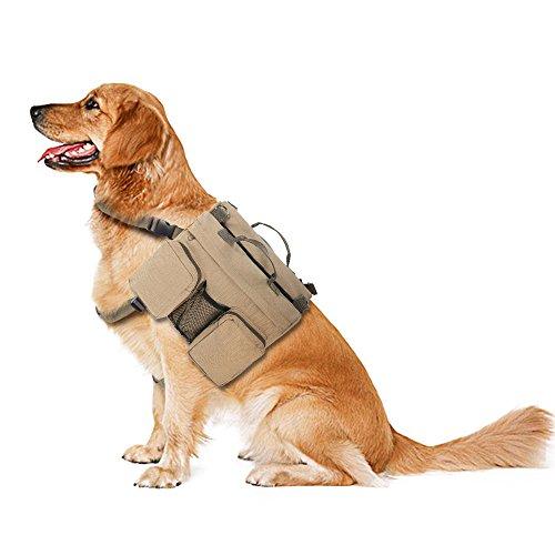 Anself Hundebacpack Hunderucksack für Reisen Camping Wandern