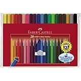 Faber Castell Fasermaler Grip Colour Marker 20er Etui farbig sortiert