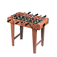 Foosball Table, Wooden Soccer Table Game W/Footballs, Perfect for Game Room, Arcades, Bar, Family Night, Competition Size Table Football for Kids, Adults