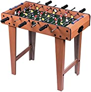 Foosball Table, Wooden Soccer Table Game W/Footballs, Perfect for Game Room, Arcades, Bar, Family Night, Compe