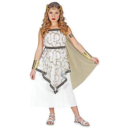 Widmann 01878 Kinderkostüm Griechische Göttin, Mädchen, Weiß/Gold, 158 (Kinder Der Griechischen Göttin Kostüm)