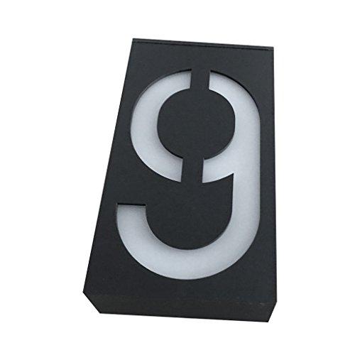 SM SunniMix Solarhausnummer Solarlampe Solarleuchte Außenwandleuchte Hausnummer Hausnummernleuchte, Nummer 0-9 zum auswählen - Nummer#9