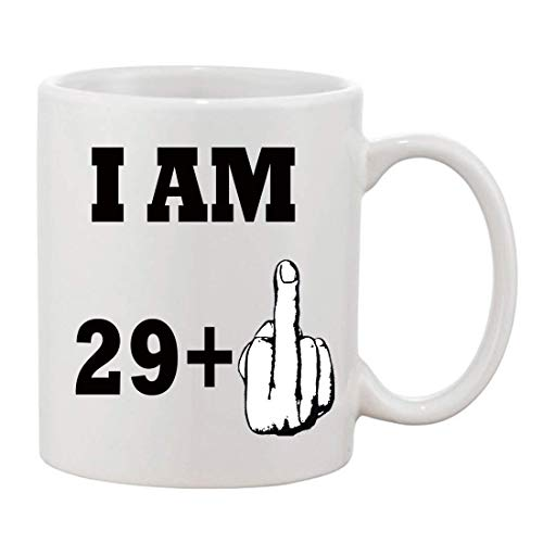 I AM 29 + 1 Finger 30th Birthday Funny Mug