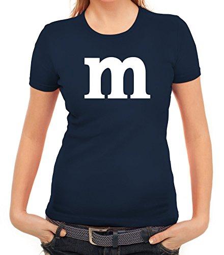 Karneval Fasching Junggesellenabschied Damen T-Shirt Gruppen & Paar Kostüm mit M Aufdruck, Größe: (Ideen Karneval Kostüme)