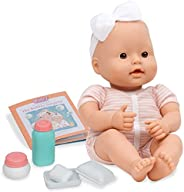 Baby Sweetheart by Battat – Bath Time 12-inch Soft-Body Newborn Baby Doll with Easy-to-Read Story Book and Bab