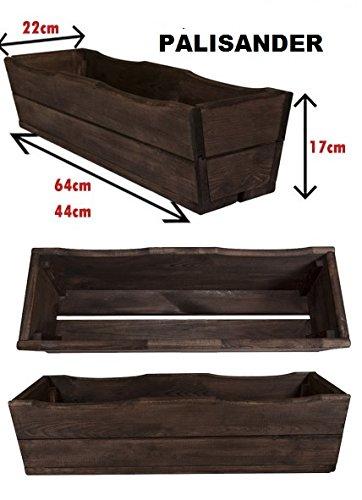 NEU Pflanzkasten aus Holz TOP Pflanzkübel Garten Terrasse fertig montiert D8 Palisander (44 cm) | Garten > Pflanzen > Pflanzkästen | Kiefernholz - Fichte - Holz