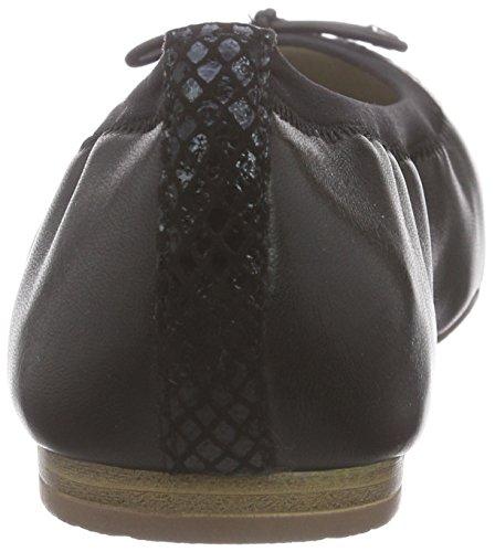 Tamaris 22129, Ballerines fermées femme Noir - Schwarz (BLACK/BLK STR. 010)