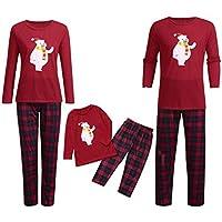 Pijamas Piezas Familiares de Navidad Conjuntos Navideños Algodón para Mujeres Hombres Niño Bebé Ropa Otoño Invierno