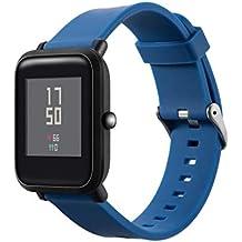 Zolimx Pulsera de Silicona Suave Accesorios Reloj Correa de Deportes Banda para Huami Amazfit Smart Watch