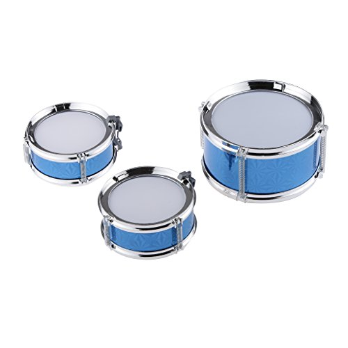 Generic Children Mini Blue Big Band Jazz Drum Set with 3 Drums Musical Play Toy Gift  available at amazon for Rs.505