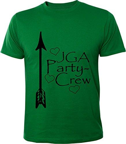 Mister Merchandise Herren Men T-Shirt Party Crew - JGA Junggesellinnenabschied Tee Shirt bedruckt Grün