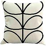 2pcs geometría pintura lino manta funda para cojín funda de almohada para sofá decoración del hogar por friendg, B, 45cmX45cm