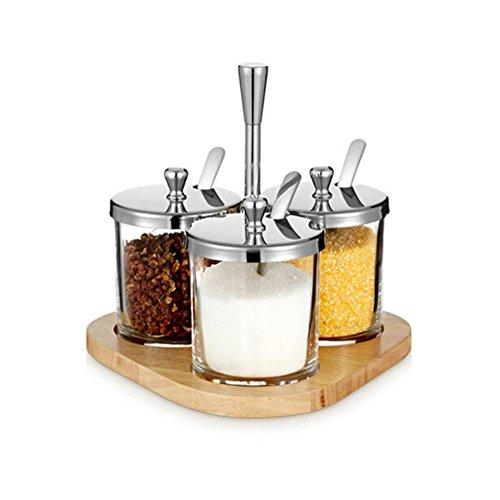 V.JUST Spice Jar Set Salz Zucker Gewürzdose Gewürzbehälter Condiment Pot Cruet Flasche Küche Kochen Werkzeuge