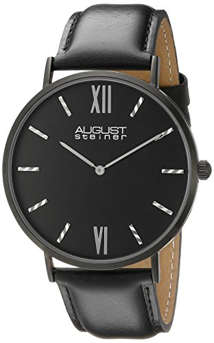 August Steiner Reloj de cuarzo Man AS8166BK 44 mm