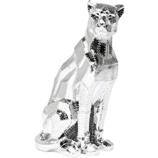 KARE Deco Figure Sitting Cat Rivet Chrome, 43 x 36 x 82 cm