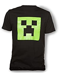 Character UK Boys Minecraft T-Shirt | Glow in The Dark Mine Craft Tshirt | from Age 5 to 13 Years