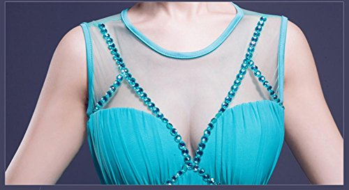 Beauty-Emily Strass trasparente pieghe Vestito stretto Rosso