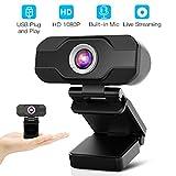 Aiglam Webcam, USB Webcam,PC Webcam Full HD con Microfono Stereo elecamera PC...