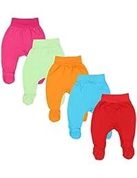 TupTam Pantalón con Pies de Bebé para Niña, Pack de 5