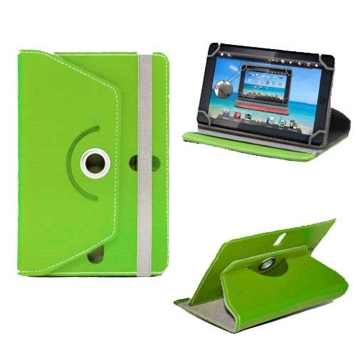 """Hello Zone Exclusive 360° Rotating 7"""" Inch Flip Case Cover Book Cover for Ambrane AK - 7000 Kids Tablet -Green  available at amazon for Rs.199"""