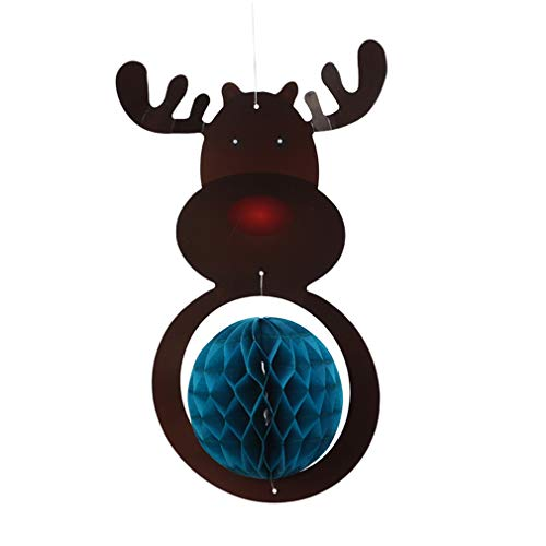 Weisin Santa Claus - Colgante de Bola de Panal de Abeja para...