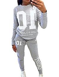 Mujer Primavera Otoño Conjuntos Deportivos Tops de Manga Larga Deportes Camisetas Pantalones Jogging Chaquetas Sudaderas Chándales