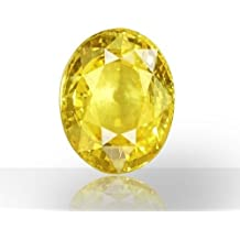 Luxurious cushion cut 9.10 Ratti Pukhraj Stone Certified Yellow Sapphire Loose Gemstone