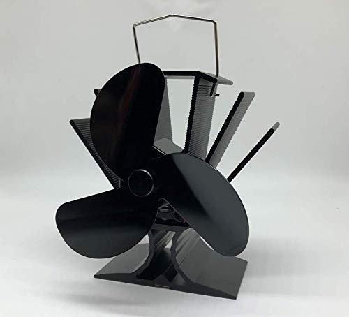 Ofenventilator stromlos für Kaminöfen, Kamin, Holzöfen, 3 Flügel (Rotoren) Ventilator, Kaminventilator, Kamin Ventilator, Umweltfreundlich für eine bessere Energieeffizient, 55 °C Starttemp