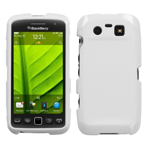Asmyna BB9850HPCSO058NP Premium Schutzhülle für BlackBerry Torch 9850, strapazierfähig, in Einzelhandelsverpackung, elfenbeinfarben/Weiß -