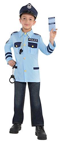 Imagen de oficial de policía kit niños de disfraces patrulla policía uniforme niños niñas traje de niño ... alternativa