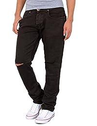 51e9ef23170 by-tex Jeans homme slim fit destroyed jeans pantalon stretch déchiré jean  coupe ...