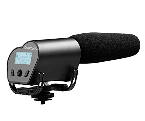 saramonic vmic Recorder Video in Kardioid Mikrofon mit integriertem Audio Recorder für DSLR-Kameras