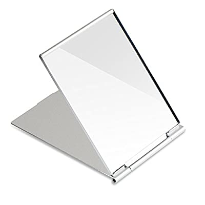 G2PLUS Little Travel Mirror Portable Folding Mirror Pocket Compact Mirror for Shaving Camping and Make Up Small Tabletop Glass 12.5 cm * 9.5 cm * 0.5 cm