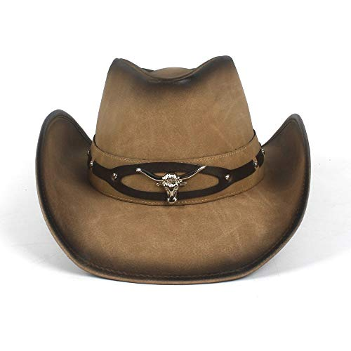 Redyiger Warme Mützen für Frauen, 2018 Cownoy Hut für Männer Western Jazz Hut mit Bull Head (Frauen Hüte Bulls Für)