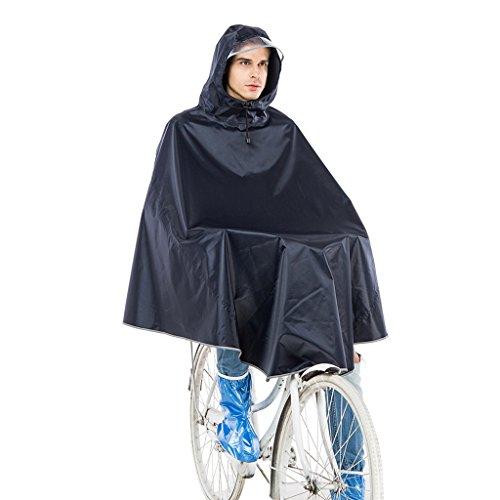 L'adulte a augmenté l'imperméable épais de vélo la longue section des hommes et des femmes chapeau transparent ( Color : Gray ) Gray